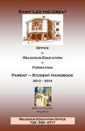 2013/2014 Handbook - Saint Leo the Great Parish