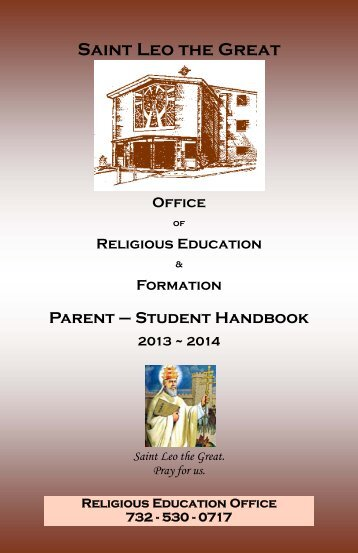 2013/2014 Handbook - Saint Leo the Great Parish