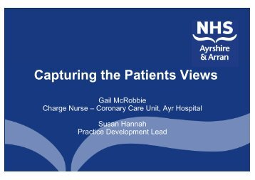 Enhancing patients experience 2 - Quality Improvement Hub
