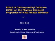 Effect of Carboxymethyl Cellulose - Food Science and Technology