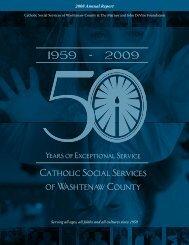 2008 Annual Report - Catholic Social Services Washtenaw County