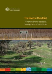 The Bowral Checklist - Land and Water Australia