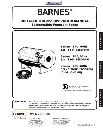 BARNES® - Crane Pumps & Systems