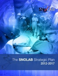 The SNOLAB Strategic Plan