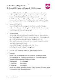 Reglement Hunterprüfung ZVCH - Zuchtverband CH Sportpferde