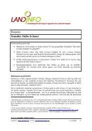 Somalia: Skilte kvinner 04.06.2009 - LandInfo