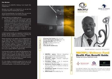 NBCRFLI Wellness Fund Health Plan Benefit Guide - nbcrfli.org.za