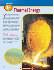 Chapter 6: Thermal Energy - Wylie Jr. High School