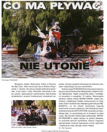 Rozegrano kolejne Mistrzostwa Polski w Pływaniu Na Byle Czym ...