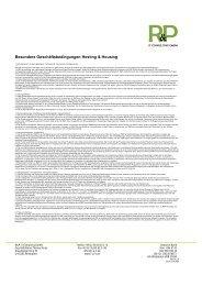 Besondere Geschäftsbedingungen Hosting & Housing - tp3