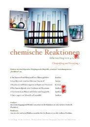chemische Reaktionen - Pflumm.name