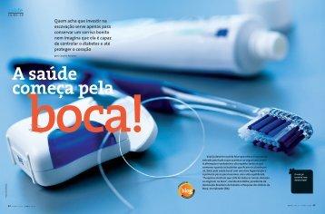 2012/04 - Revista Pense Leve - Artigo: A saúde começa pela boca