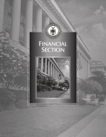 FY 2008 Financial Statements - Department of Commerce