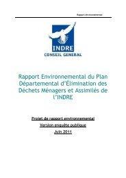 Projet Rapport environnemental - Conseil général de l'Indre