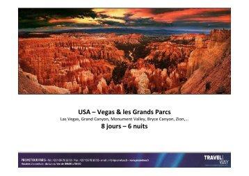 Découverte de Las Vegas et les Grands Parcs - Prometour