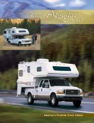 2004 Alpenlite Limited Truck Camper Brochure - Rvguidebook.com
