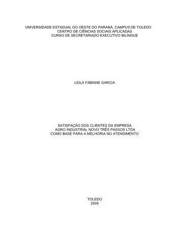 Leila Garcia - Satisfação dos Clientes.pdf - Secretariado Executivo