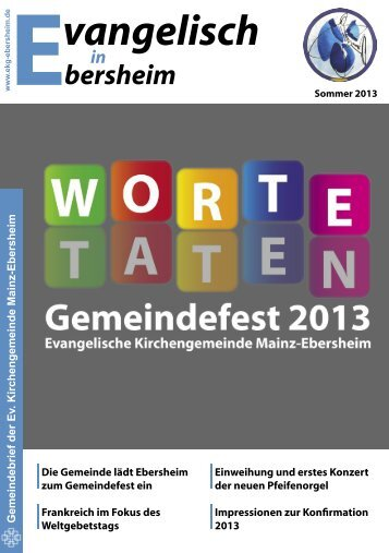 Sommer 2013 - Evangelische Kirchengemeinde Mainz-Ebersheim