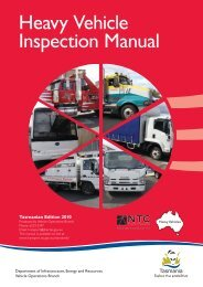 Heavy Vehicle Inspection Manual - Transport