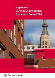 Algemene Verkoopvoorwaarden Gemeente Breda 2008