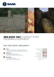 SM-EOD 190 CONTACT FREE DEMINING EQUIPMENT - Saab