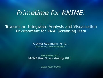 Primetime for KNIME: Towards an integrated analysis and ...