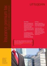 Littlejohn Insurance Premium Tax Compliance and ... - PrimeGlobal