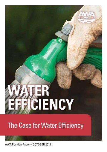 The Case for Water Efficiency - Australian Water Association