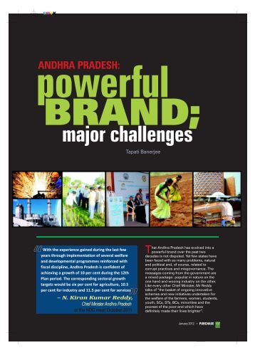 Andhra Pradesh: powerful BRAND - Industrial Products
