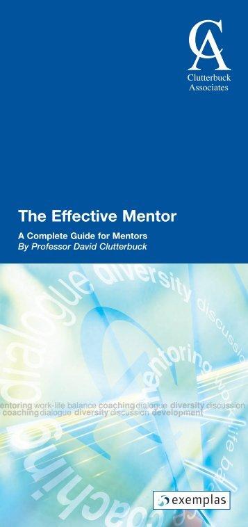 The Effective Mentor - Scottish Mentoring Network