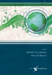 NASW Foundation 2009 Annual Report
