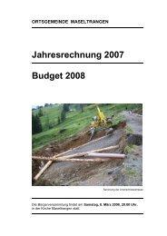 Jahresrechnung 2007 Budget 2008 - Maseltrangen