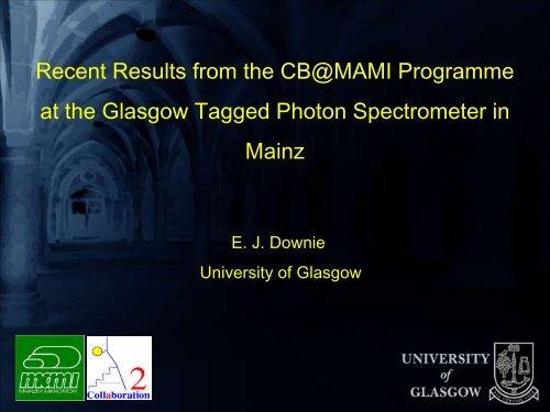 MAMI - Nuclear Physics - University of Glasgow