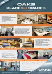 PLACES & SPACES - Oaks Hotels & Resorts