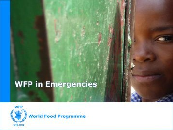 WFP in Emergencies - WFP Remote Access Secure Services