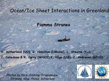 Ocean/Ice Sheet Interactions in Greenland