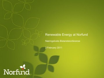 Renewable Energy at Norfund - Energi Norge