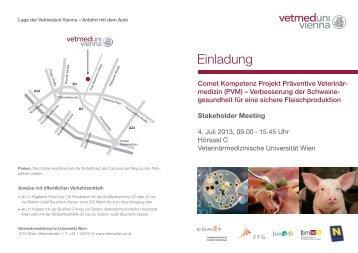 Einladung - Veterinärmedizinische Universität Wien