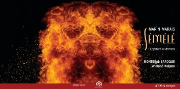 CD booklet - ATMA Classique