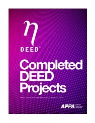 Completed DEED projects - American Public Power Association