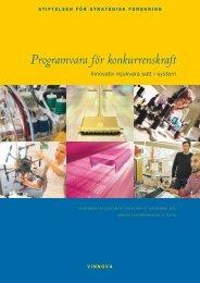 Programvara för konkurrenskraft - Stiftelsen för Strategisk Forskning