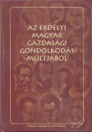 Az erdélyi magyar gazdasági gondolkodás múltjából