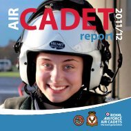 Air Cadet Organisation Annual Report – 2011/2012 - Royal Air Force