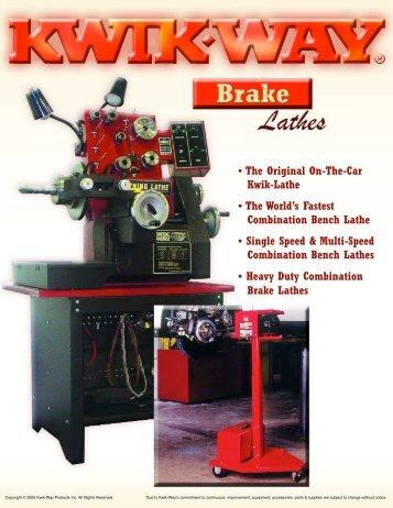 Brake Machine Literature - Kwik-Way