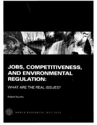 jobs, competitiveness, and environmental regulation - World ...