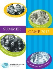 SUMMER CAMP 2012 - Boys & Girls Clubs of Sonoma Valley