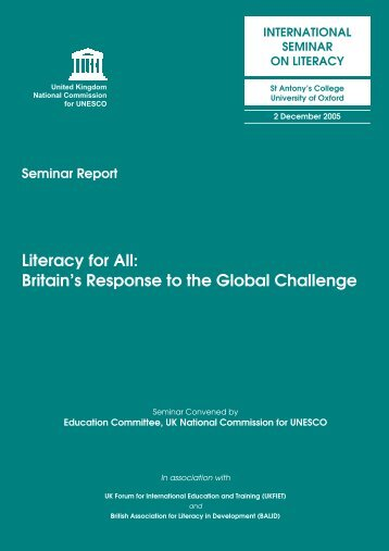 Literacy Seminar Report - UK National Commission for UNESCO