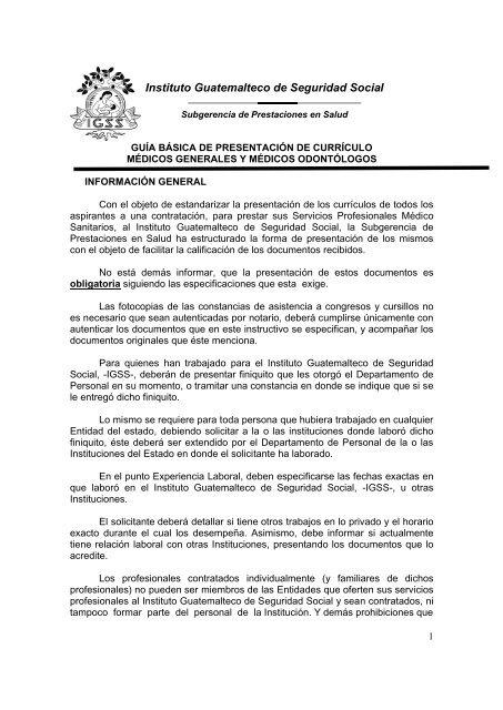 Presentacia N Curriculum Vitae Ma C Dicos Generales Y Odonta Logos