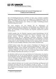 Anmerkungen zur Richtlinie betreffend das Recht auf ... - UNHCR