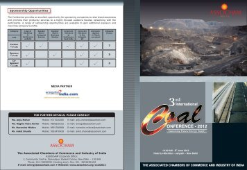 Coal Brochure_2012 - The Associated Chambers of Commerce and ...